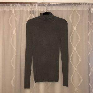 Express grey ribbed mock turtleneck shirt